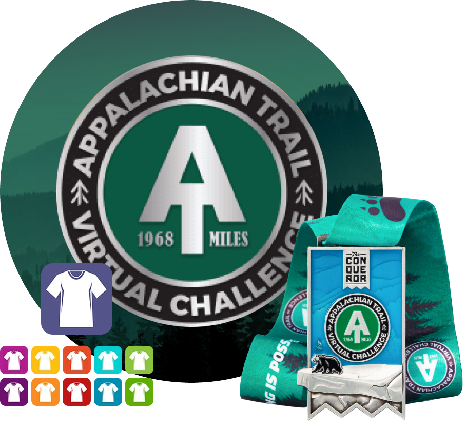 Appalachian Virtual Challenge   Entry + Medal + Apparel