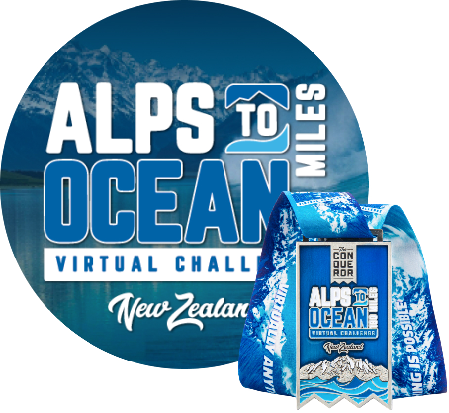 Alps to Ocean Virtual Challenge | Entry + Medal