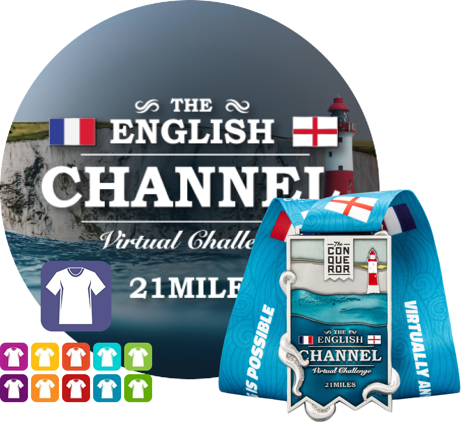 English Channel Virtual Challenge | Entry + Medal + Apparel