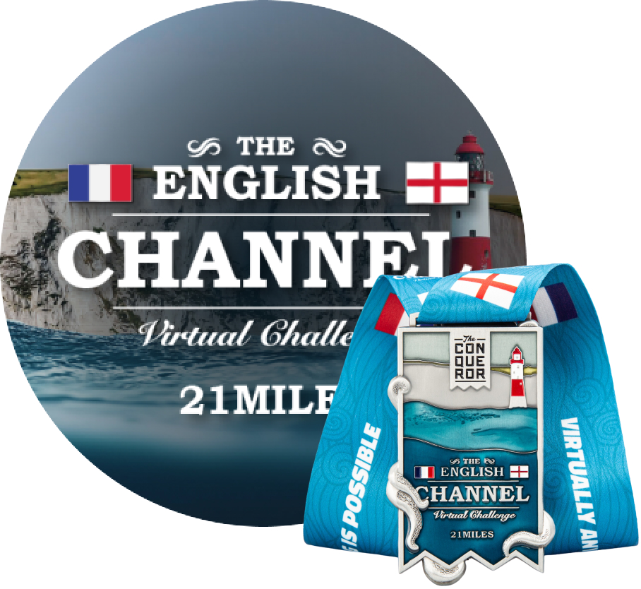 English Channel Virtual Challenge | Entry + Medal