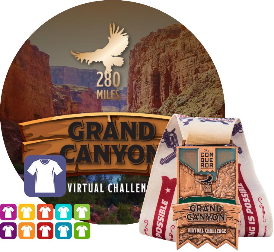 Grand Canyon Virtual Challenge | Entry + Medal + Apparel