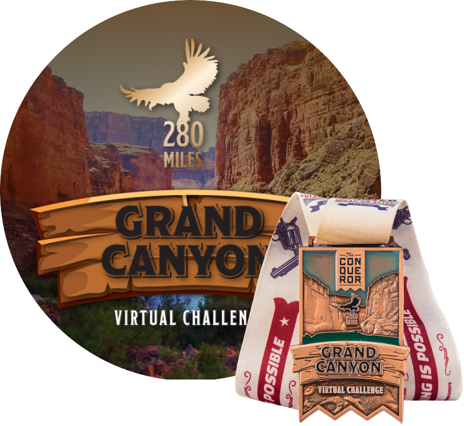 Grand Canyon Virtual Challenge | Entry + Medal