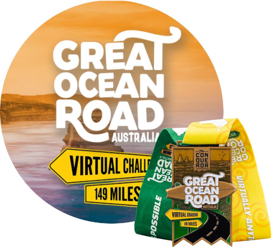 Great Ocean Road Virtual Challenge | Entry + Medal