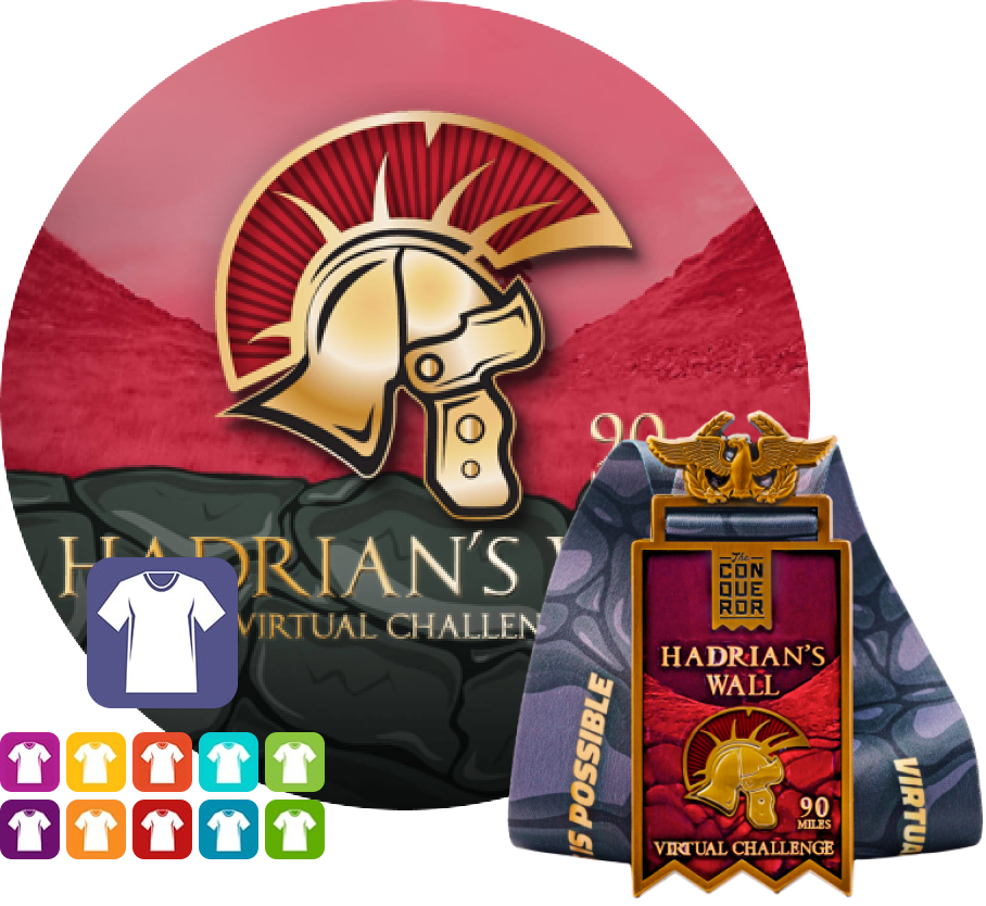 Hadrians Wall Virtual Challenge | Entry + Medal + Apparel