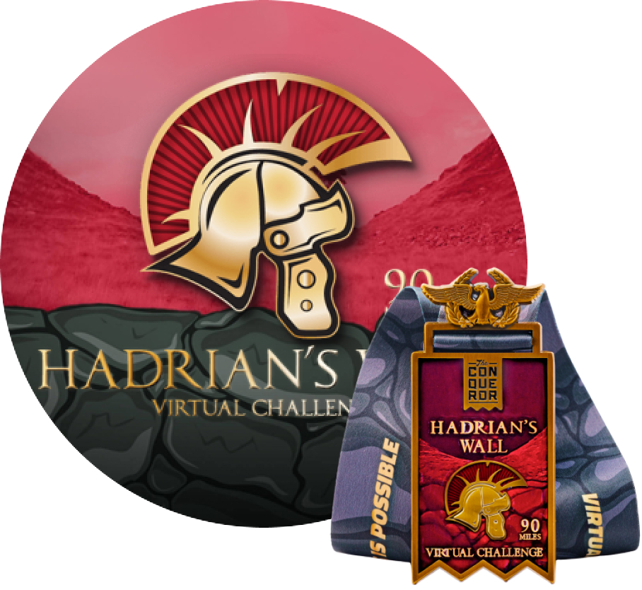 Hadrians Wall Virtual Challenge | Entry + Medal