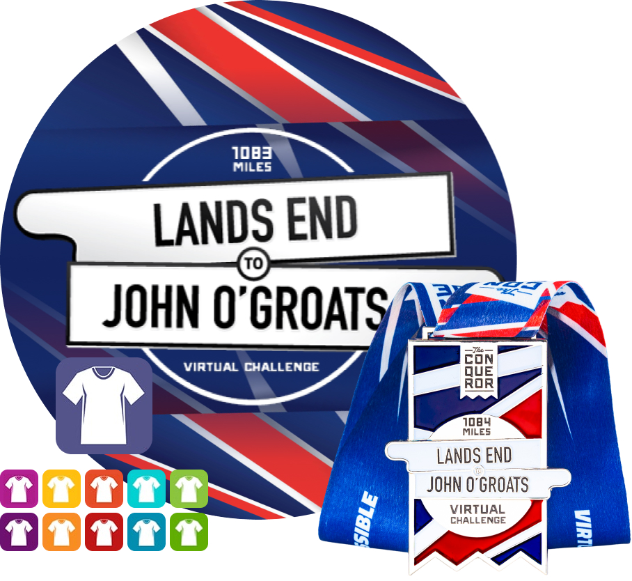 Lands End to John OGroats Virtual Challenge | Entry + Medal + Apparel