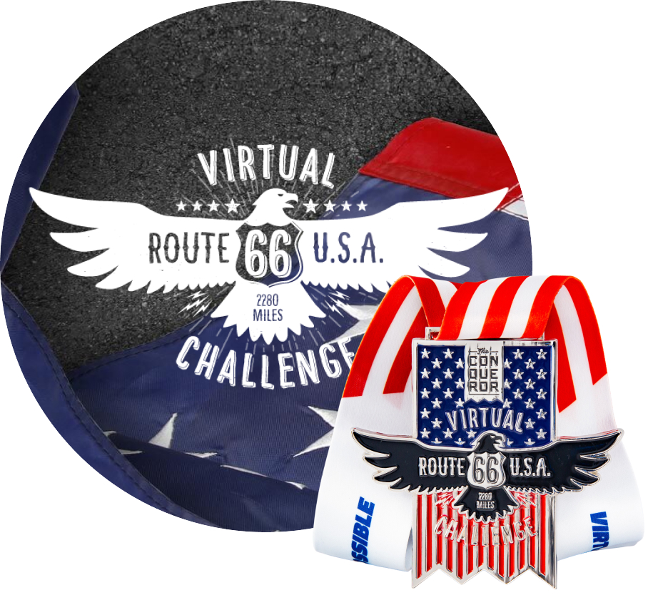 Route 66 Virtual Challenge | Entry + Medal