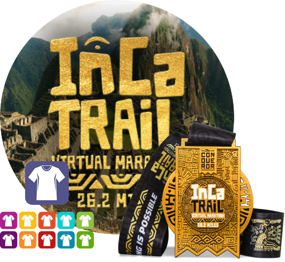 Inca Trail Virtual Marathon | Entry + Medal + Apparel