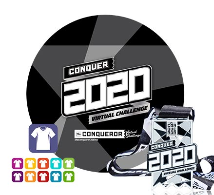 Conquer 2020 Virtual Challenge | Entry + Medal + Apparel