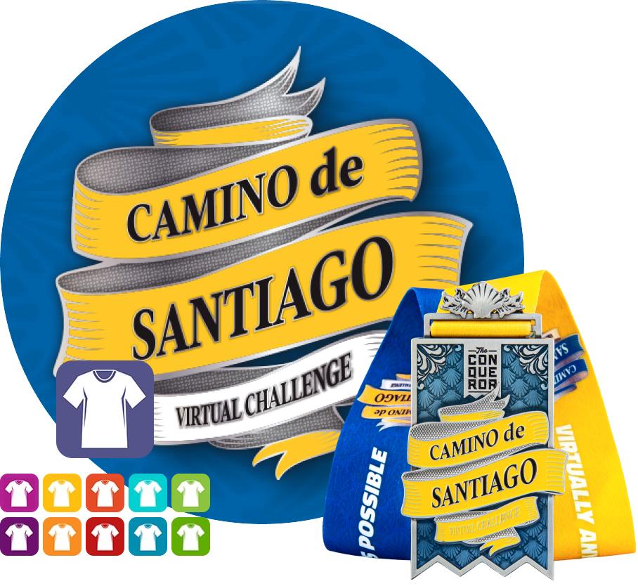 Camino de Santiago Virtual Challenge | Entry + Medal + Apparel
