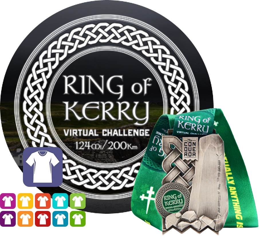 Ring of Kerry Virtual Challenge | Entry + Medal + Apparel