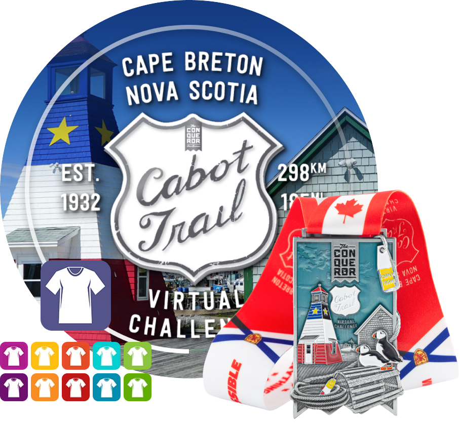 Cabot Trail Virtual Challenge   Entry + Medal + Apparel