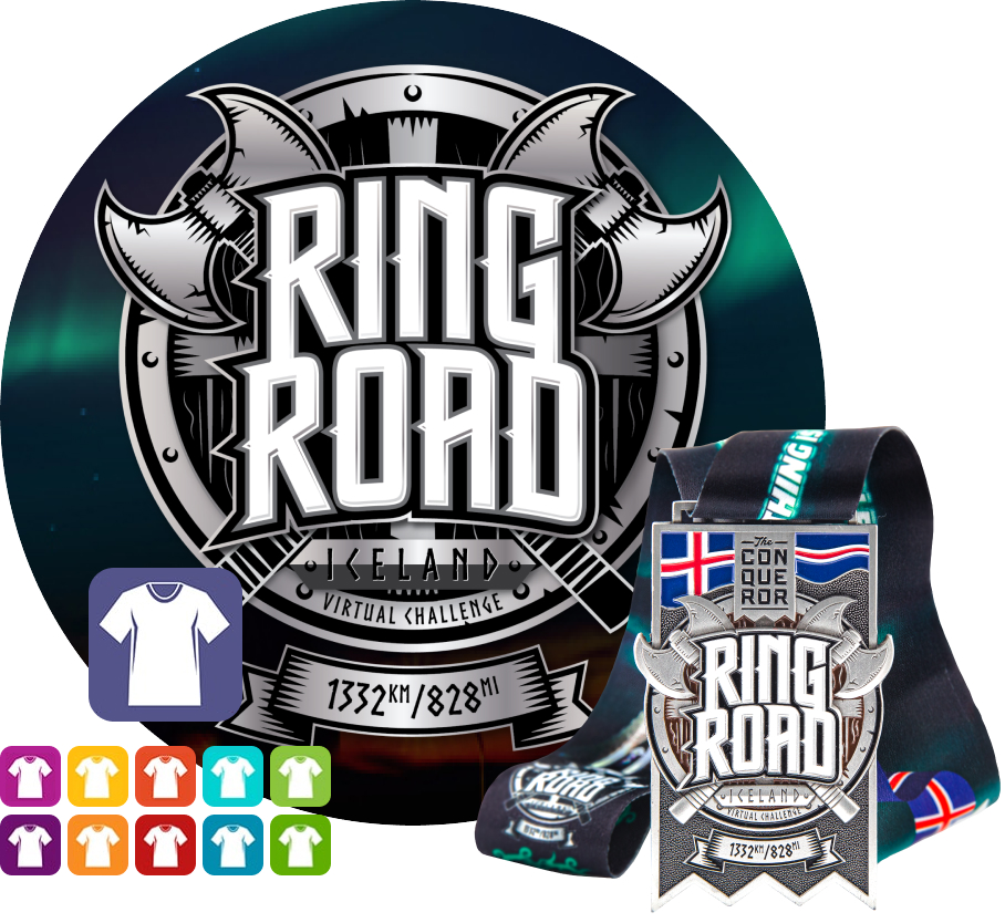 Ring Road Virtual Challenge | Entry + Medal + Apparel