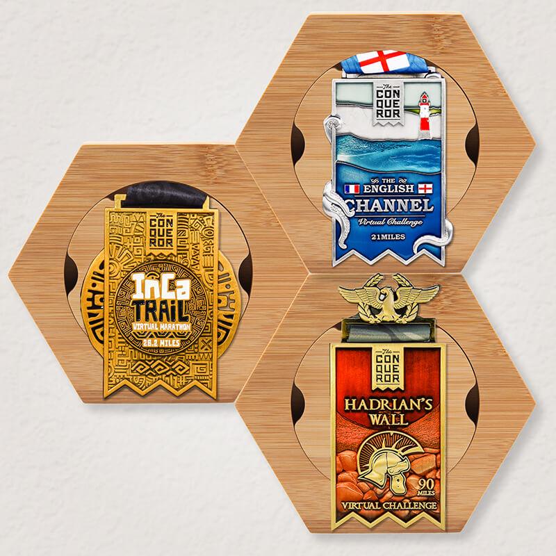 3x Honeycomb Medal Holder Pack