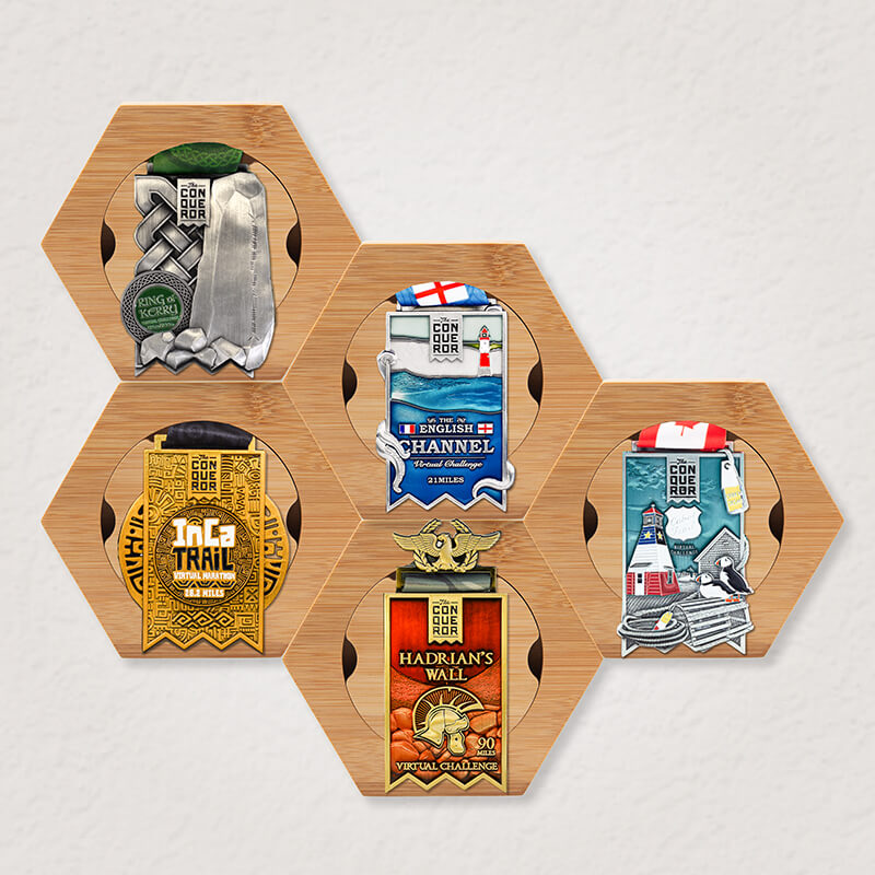5x Honeycomb Medal Holder Pack