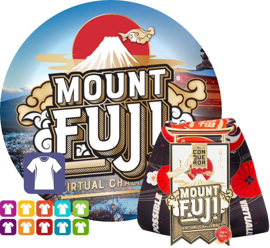 Mount Fuji Virtual Challenge | Entry + Medal + Apparel