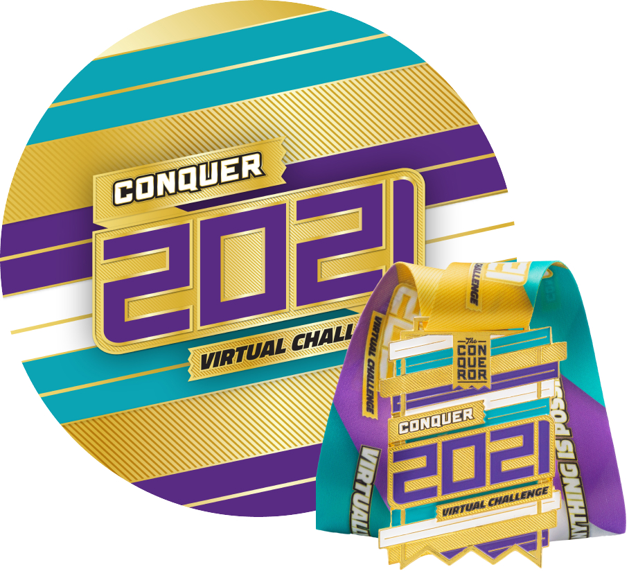 Conquer 2021 Virtual Challenge | Entry + Medal