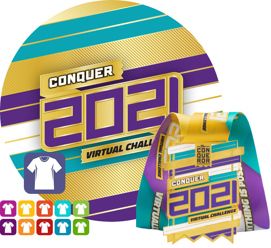 Conquer 2021 Virtual Challenge | Entry + Medal + Apparel