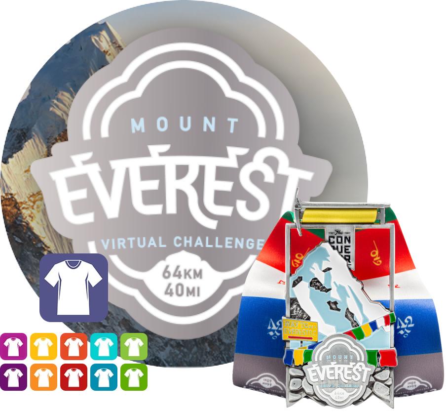 Mount Everest Virtual Challenge | Entry + Medal + Apparel