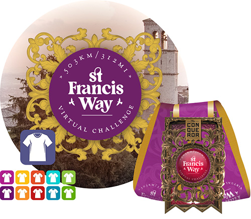 St Francis Way Virtual Challenge | Entry + Medal + Apparel