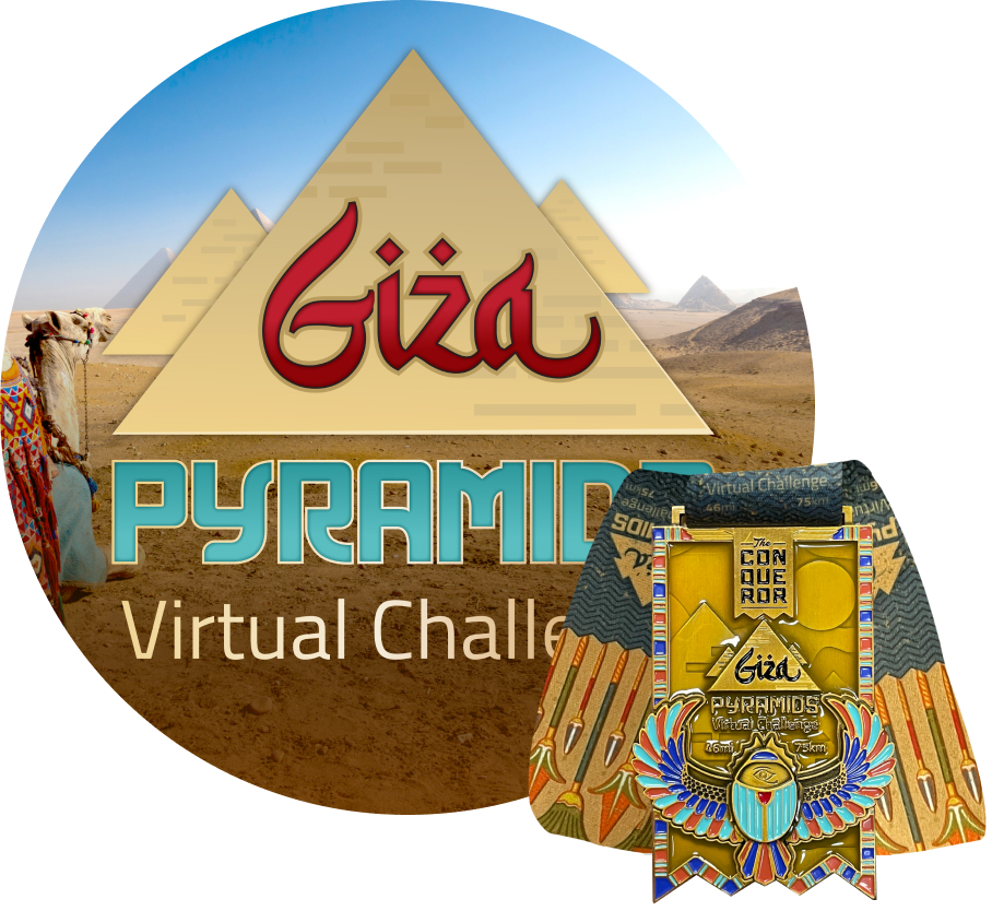 Giza Pyramids Virtual Challenge | Entry + Medal