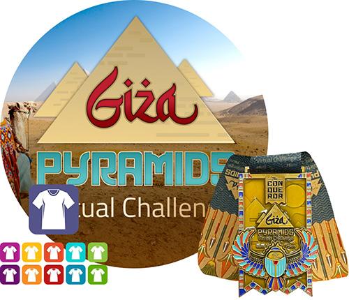 Giza Pyramids Virtual Challenge   Entry + Medal + Apparel