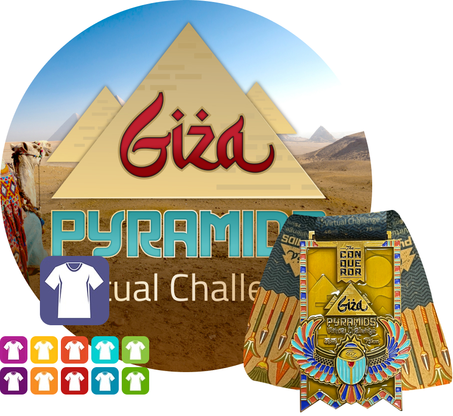 Giza Pyramids Virtual Challenge | Entry + Medal + Apparel