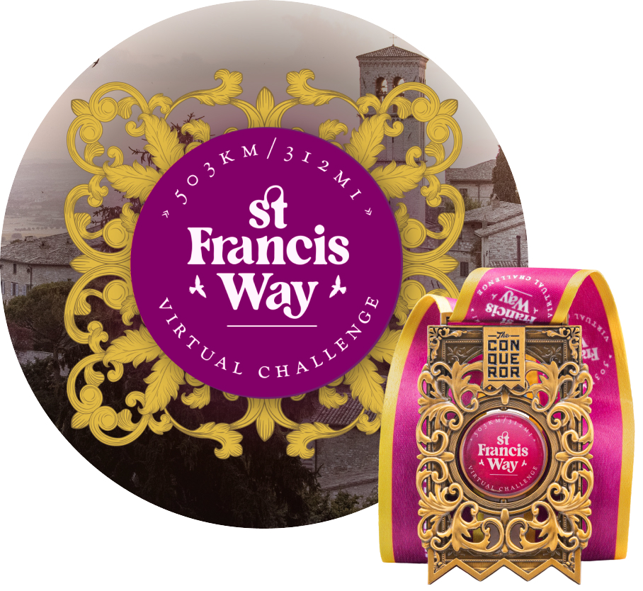 St Francis Way Virtual Challenge | Entry + Medal