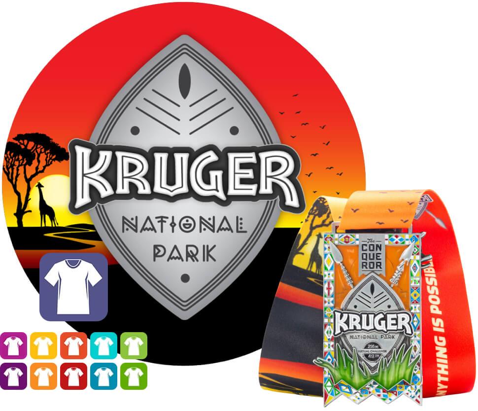 Kruger Park Virtual Challenge | Entry + Medal + Apparel