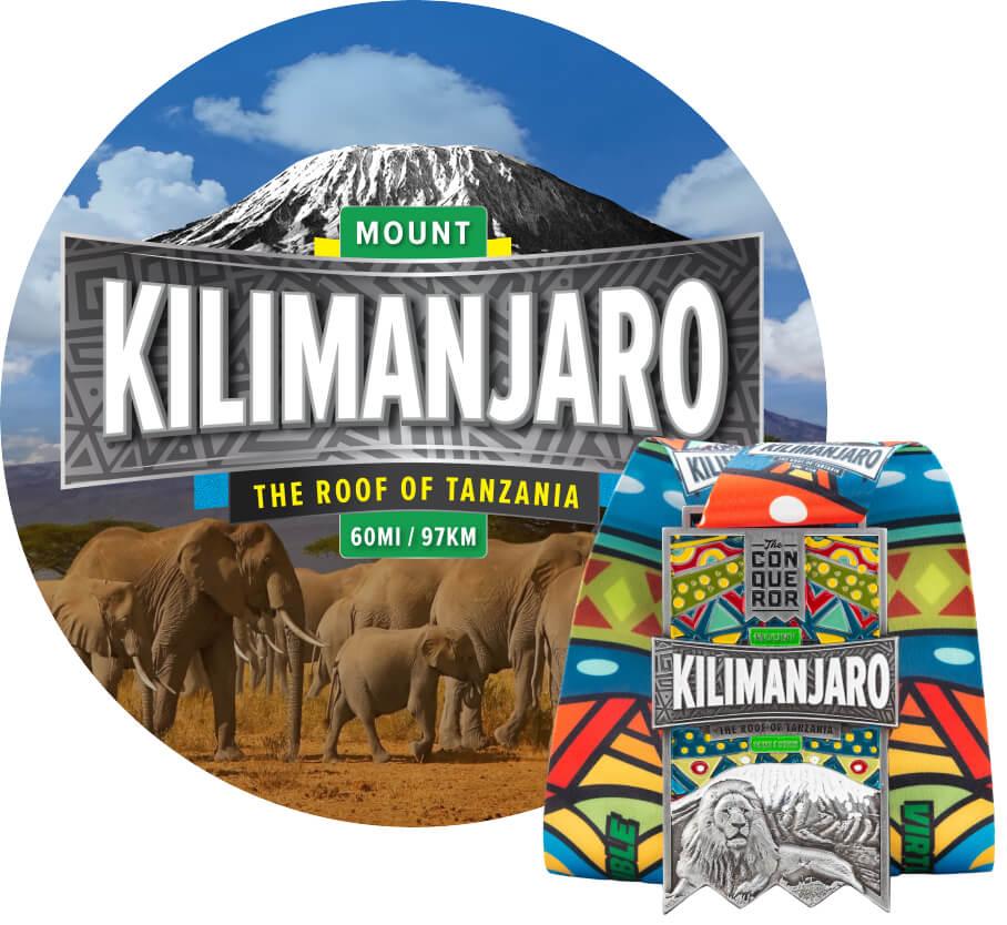Mount Kilimanjaro Virtual Challenge   Entry + Medal