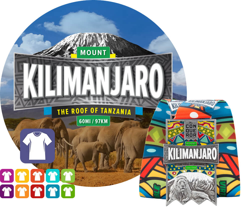 Mount Kilimanjaro Virtual Challenge | Entry + Medal + Apparel