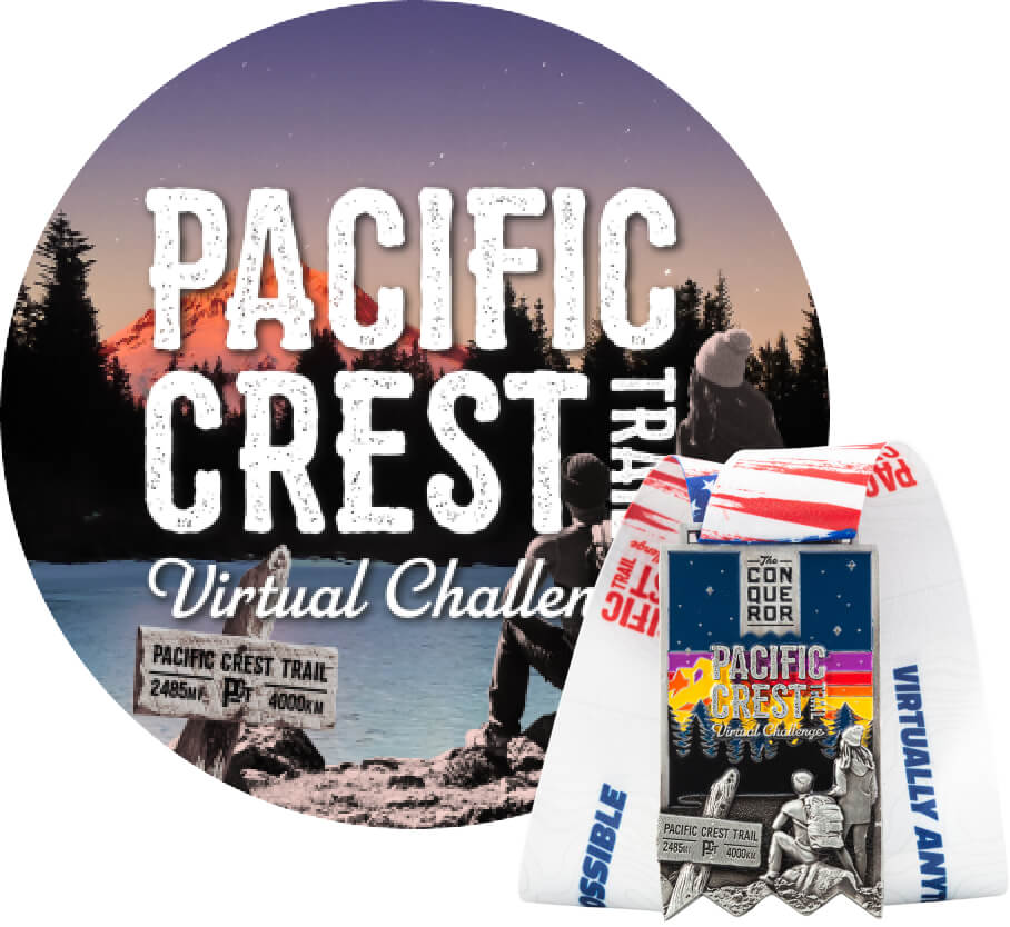 Pacific Crest Trail Virtual Challenge   Entry + Medal