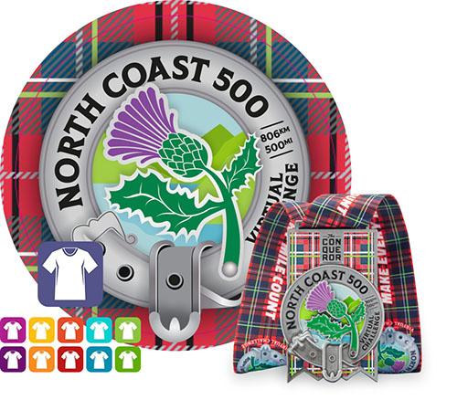 North Coast 500 Virtual Challenge | Entry + Medal + Apparel