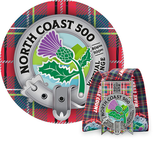 North Coast 500 Virtual Challenge   Entry + Medal
