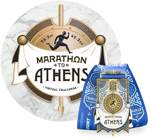 Marathon to Athens Virtual Challenge | Entry + Medal