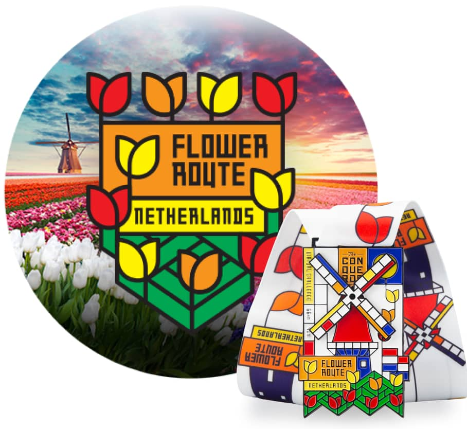 Flower Route Virtual Challenge | Entry + Medal