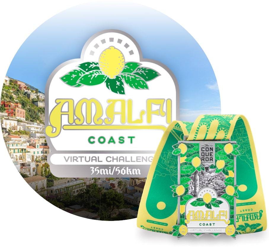 Amalfi Coast Virtual Challenge | Entry + Medal